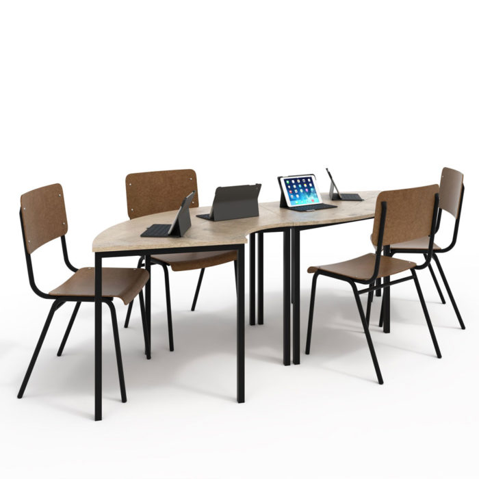 macphersons_school_furniture_durban_s_shaped_cluster_table